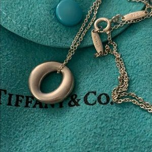 "Tiffany and co sterling silver ""O"" necklace"